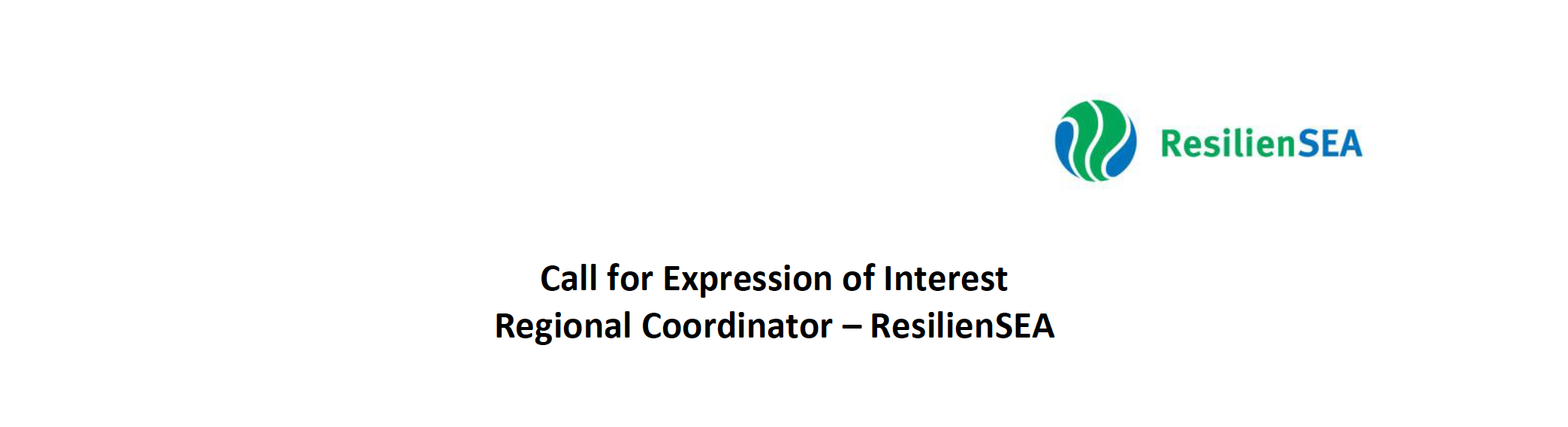 Call For Expression Of Interest Regional Coordinator – ResilienSEA
